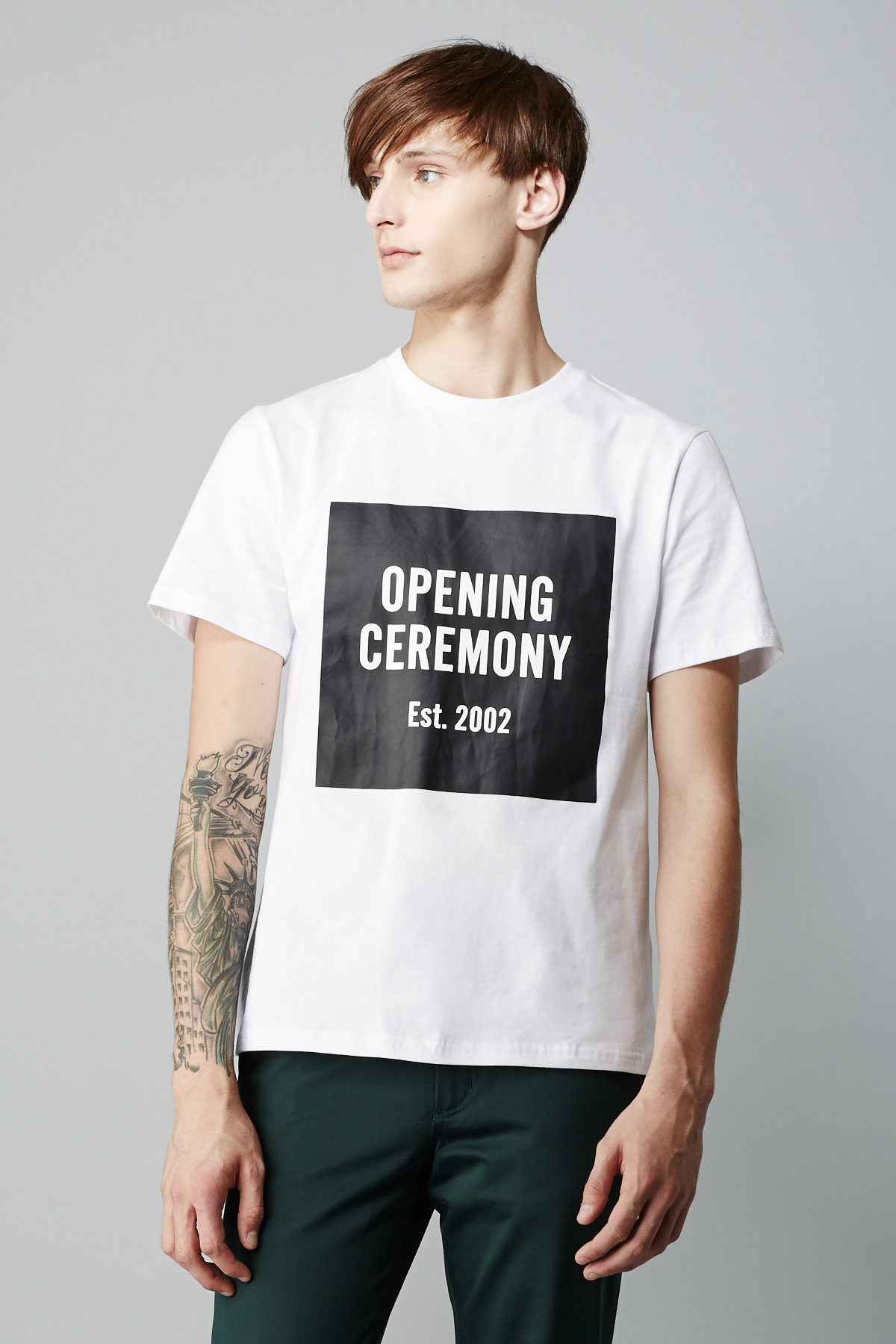 opening ceremony oc logo t shirt men just in opening