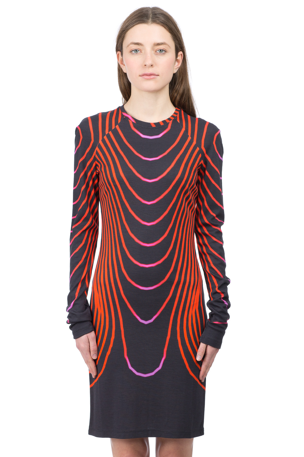 Christopher Kane Grid Face Dress Loading zoom