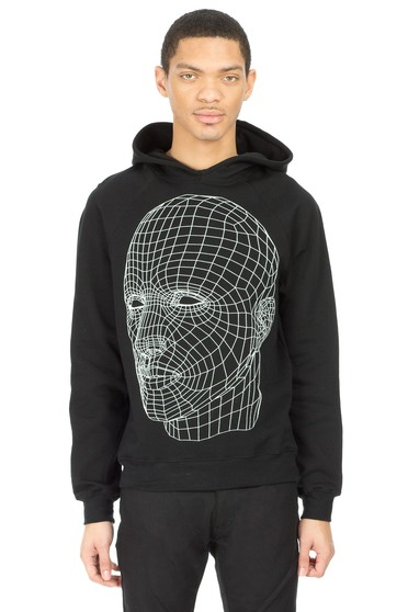 Christopher Kane Screen Printed Head Hoodie
